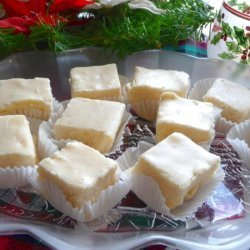White Christmas Holiday Eggnog Fudge recipe