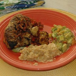 African Adobo-Rubbed Tuna Steaks