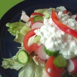 Cottage Cheese, Chicken & Tomato Salad