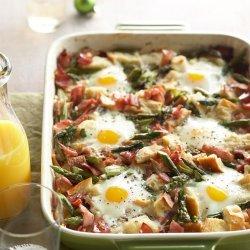 Ham & Asparagus Strata