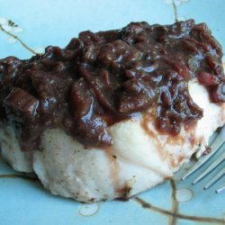 Pork Chops With Rhubarb Compote