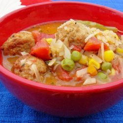 Super Easy Meatball Soup