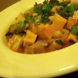 Sweet Potato, Chickpea and Eggplant Hotpot recipe