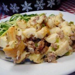 Italian Sausage Stuffing Casserole