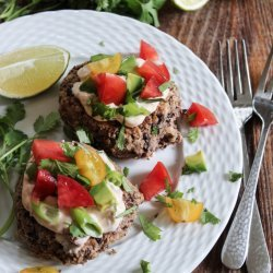 Black Bean Cakes With Chipotle Cream