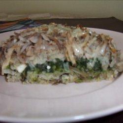 Spinach Potato and Feta Bake