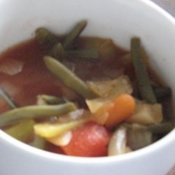 Garden Vegetable Soup  Weight Watchers  0 Points Per 1 Cup Servi