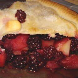 Simple Blackberry and Apple Pie