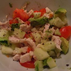 Chicken, Potato and Avocado salad