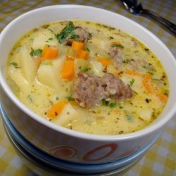 Cheesy Sausage & Potato Soup
