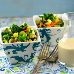 Raw Kale Salad With Tahini Dressing recipe