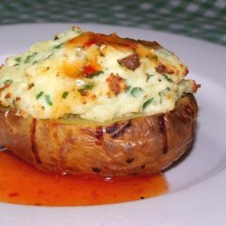 Baked Potatoes Stuffed With Ricotta and Herbs