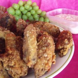 Wings of Fire With Horseradish Dipping Sauce(Or Bleu Cheese) recipe