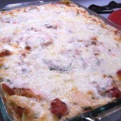 Creamy Garlic Shrimp Lasagna recipe