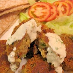 Falafel With Tahini and Cilantro Sauces