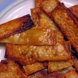 Oven-Baked Teriyaki or Thai Wonton Chips recipe