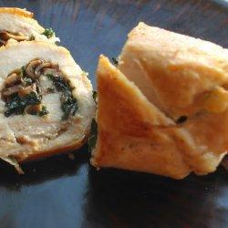 Gruyere and Chicken Roulade