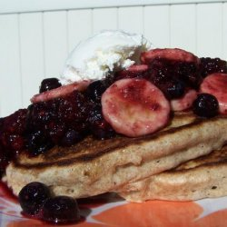 Whole Wheat Pancakes With Fresh Fruit