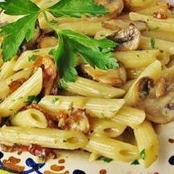 Penne with Pancetta and Mushrooms