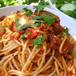 Mariu's Spaghetti with Meat Sauce
