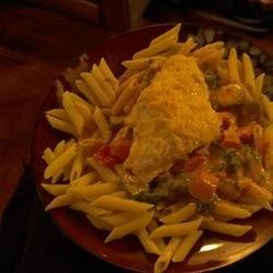 Penne Rosa with Parmesan Crusted Chicken recipe