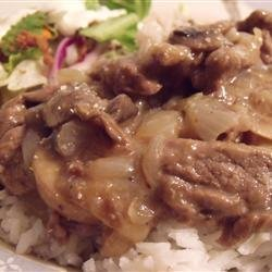 Simply Elegant Steak and Rice recipe