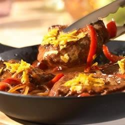 Sirloin, Pepper and Onion Skillet recipe