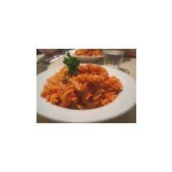 Pasta with Chicken Mushroom Cream Sauce