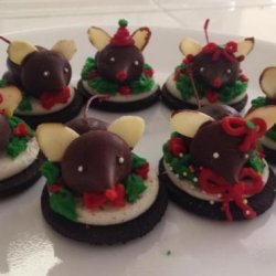 Chocolate Christmas Mice Cookies