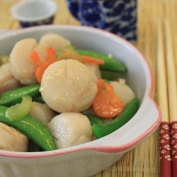 Stir-Fried Scallops With Sugar Snap Peas