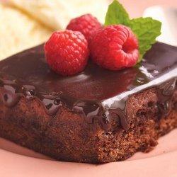 Warm and Fudgy Raspberry Pudding Cake