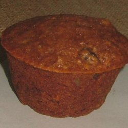 Carrot Muffins With Raisins and Dried Pineapple