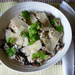 Mushroom Risotto With Peas