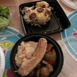 Bratwurst and Rice