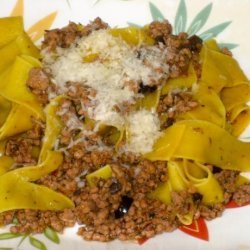 Veal and Olive Ragù With Pappardelle recipe