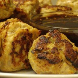 Chicken Balls With Oriental Dipping Sauce ( Gluten-Free)