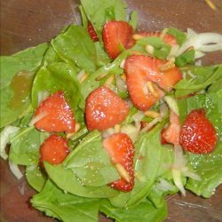 Spinach and Strawberry Salad with Honey Mustard Vinaigrette