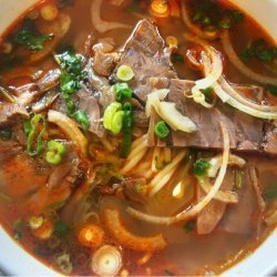 Spicy Thai Beef-Noodle Soup