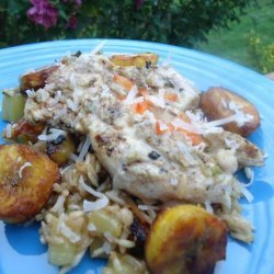Mojito Chicken With Plantain Fried Rice recipe