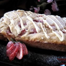White Chocolate Strawberry Loaf