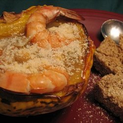Minestrone With Shrimp, Garbanzo Beans, and Autumn Squash