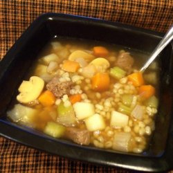Nif's Hearty Healthy Beef Barley Soup - 5 Ww Pts.