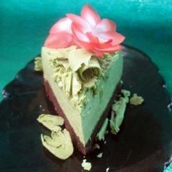 Japanese Style Matcha Cheesecake With Shortbread Crust