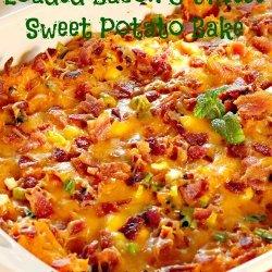 Sweet Potato, Apple, and Cranberry Bake