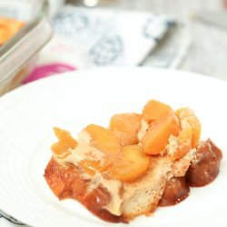 Light French Toast Casserole With Peaches