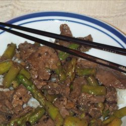 Chinese Beef and Asparagus With Black Bean Sauce