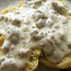 Merm's Biscuits and Sausage Gravy recipe