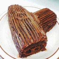 Stump on a Log Chocolate Cake recipe