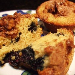 Blueberry Almond Farina Muffins