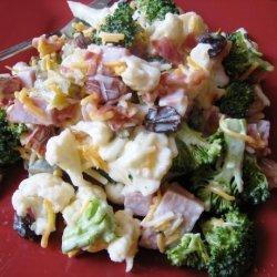 Cauliflower & Broccoli Salad